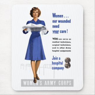 Women's Army Corps Mouse Pad