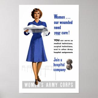 Women's Army Corps -- WW2 Recruiting Print
