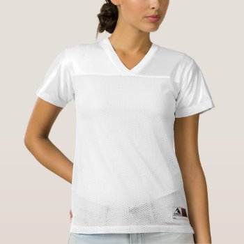 Women's Augusta Replica Football Jersey by creativeconceptss at Zazzle