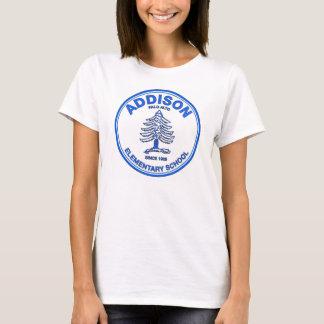 Women's Babydoll Tee, Blue Logo T-Shirt