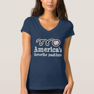 Women's baseball t shirt with cute sporty design