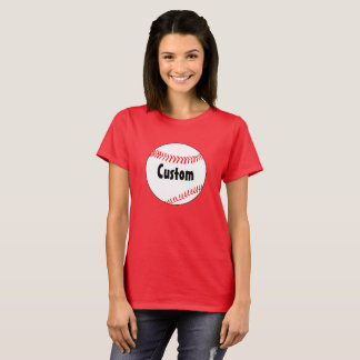 Women's Basic Baseball Custom T-shirt