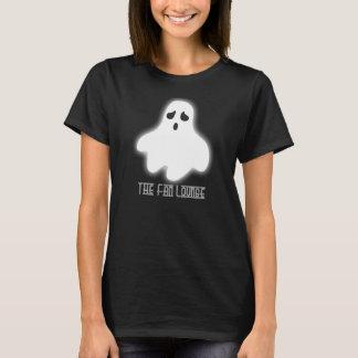 Women's Basic black Tee Halloween Ghost
