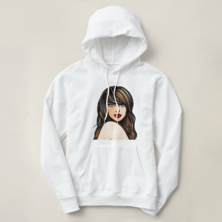 Women's Basic Hooded printed Sweatshirt