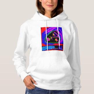 Women's Basic Hooded Sweatshirt Face Pop Art