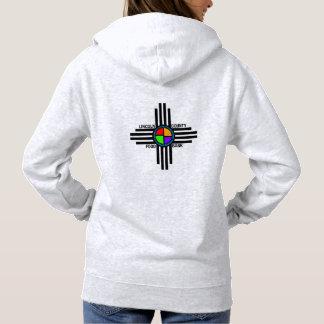 Women's Basic Hooded Sweatshirt logo on back