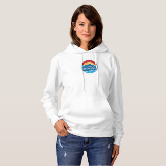 Women's basic hoodie with round logo