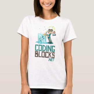 Women's Basic T - Coding Blocks Vertical Logo T-Shirt