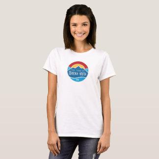 Women's basic t-shirt with round logo
