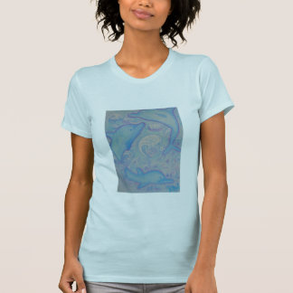 women's basic tee - Happy Dolphins