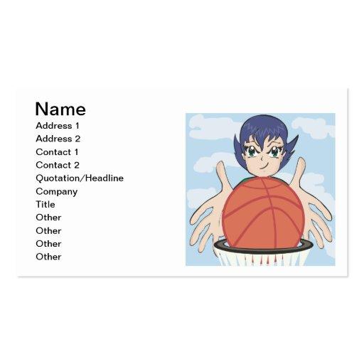 Womens Basketball Business Card