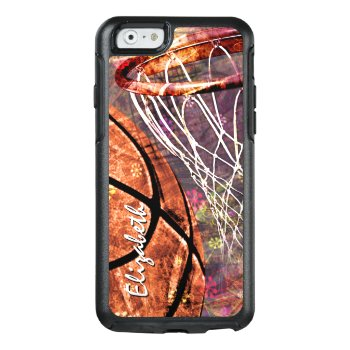 Women's Basketball Graphics Composite Otterbox Iphone 6/6s Case by katz_d_zynes at Zazzle