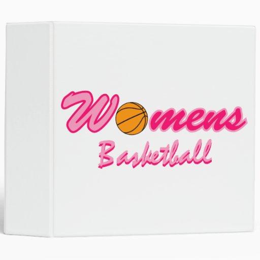 Women's Basketball Logo 3 Ring Binder