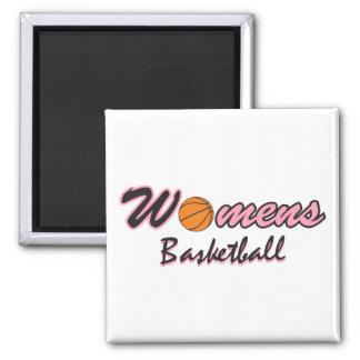 womens basketball logo graphic pink refrigerator magnet