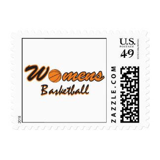 womens basketball logo graphic postage stamps