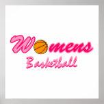 Women's Basketball Logo Posters