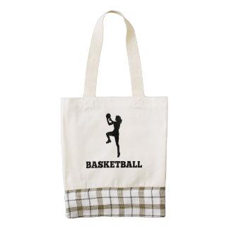 Women's Basketball Player Zazzle HEART Tote Bag