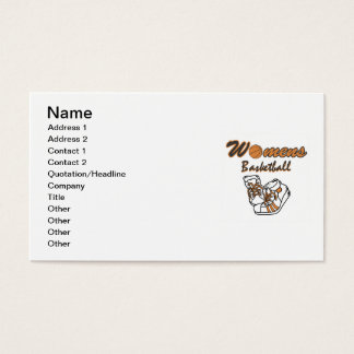Women's Basketball Shoes T-shirts and Gifts Business Card