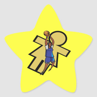 Womens Basketball Star Sticker