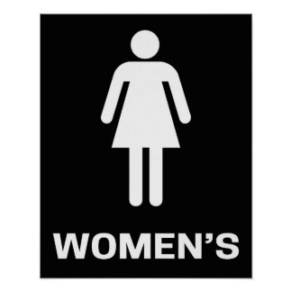 Women s Bathroom Sign Modern Poster. Bathroom Sign Posters   Zazzle