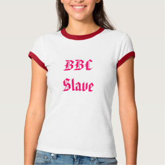 womens bbc slave cuckold t-shirt