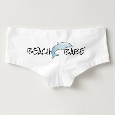 Women's Beach Babe Boyshorts with Dolphin