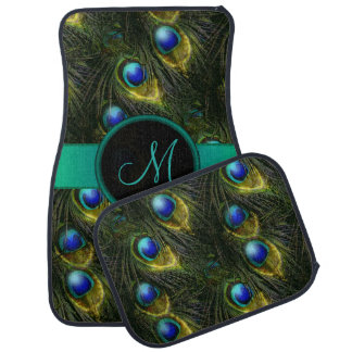 Women's Beautiful Fantasy Sparkly Peacock Feather Car Mat