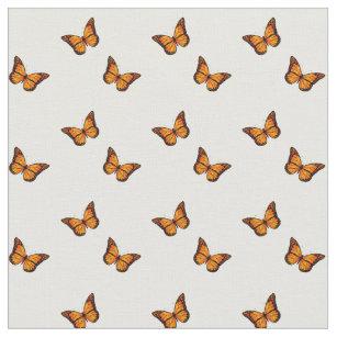 Women s Beautiful Orange Butterfly On White Fabric f6ed8421c