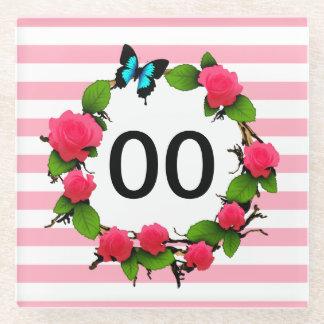 Womens Beautiful Rose 50th 60th 70th 80th Birthday Glass Coaster
