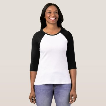 Beach Themed Women's Bella 3/4 Sleeve Raglan T-Shirt