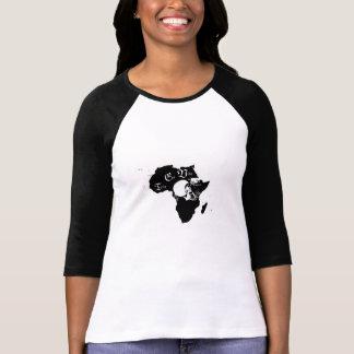 Women's Bella 3/4 Sleeve Raglan T-Shirt, White/Bla T-Shirt