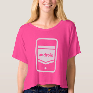 Women's Bella Android Canvas Boxy Crop Top T-Shirt