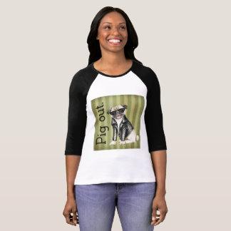Women's Bella Canvas Pig Out Raglan T-Shirt