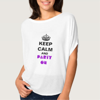 Women's Bella Flowy Circle Top White KEEP CALM