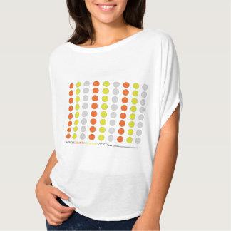 Women's Bella Flowy Circle Top, White T-Shirt