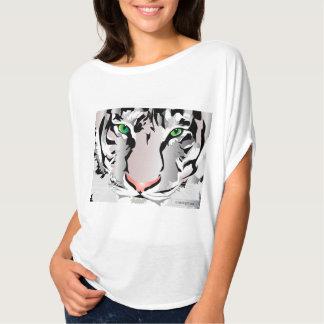 Women's Bella Flowy Circle Top, White-TIGER-WHITE/ T-Shirt