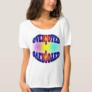 Women's Bella Flowy Simple T-Shirt/ Overjoyed T-shirt