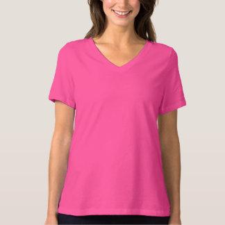 Women's Bella Plus Size V-Neck T-Shirt Berry Pink