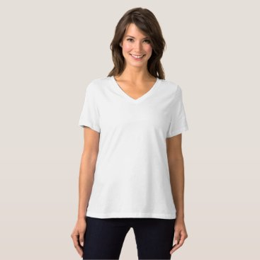 Beach Themed Women's Bella Relaxed Fit Jersey V-Neck T-Shirt