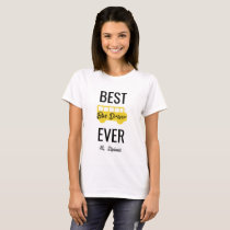 Women's Best Bus Driver Ever Personalized School T-Shirt