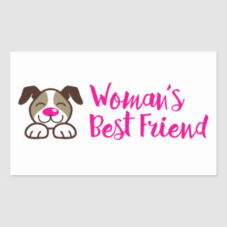 Women's Best Friend Rectangular Sticker