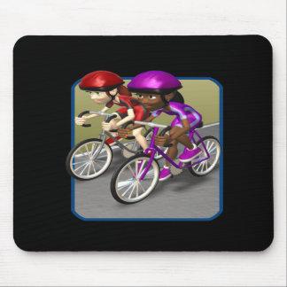 Womens Bike Race Mouse Pad