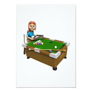 Womens Billiards Card