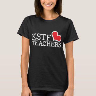 Women's Black Basic T-Shirt - KSTF Heart: Center