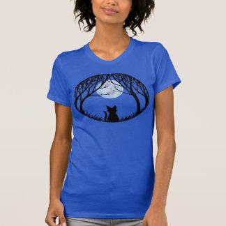 Women's Black Cat Shirt Fat Cat Ladies Tank Top