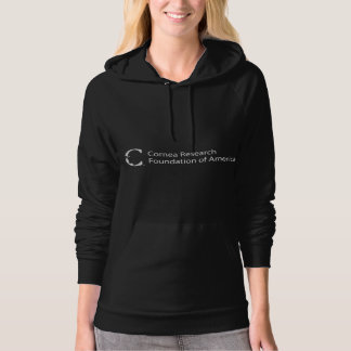 Women's Black Hoodie - Cornea Research Supporter