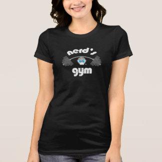 "Women's Black ""nerd's gym"" CraniumTap T-shirt"