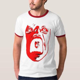 Women's black v-neck with Red Scream T-Shirt