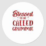 Womens Blessed To Be Called Grammie Pla Classic Round Sticker