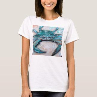 Womens Blue Crab Beach Tee